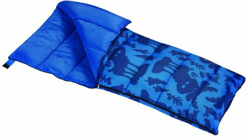 Wenzel Moose Boys 40-Degree Sleeping Bag, Blue